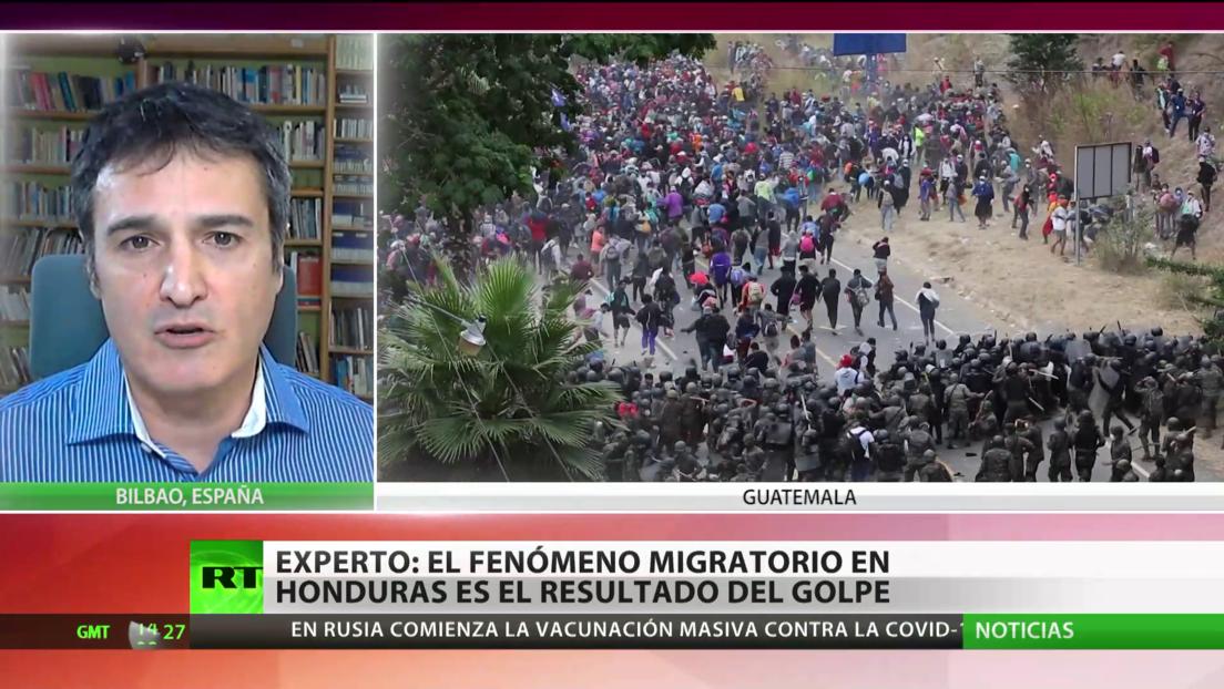 Experto: El fenómeno migratorio en Honduras es resultado de la represión política después del golpe de Estado