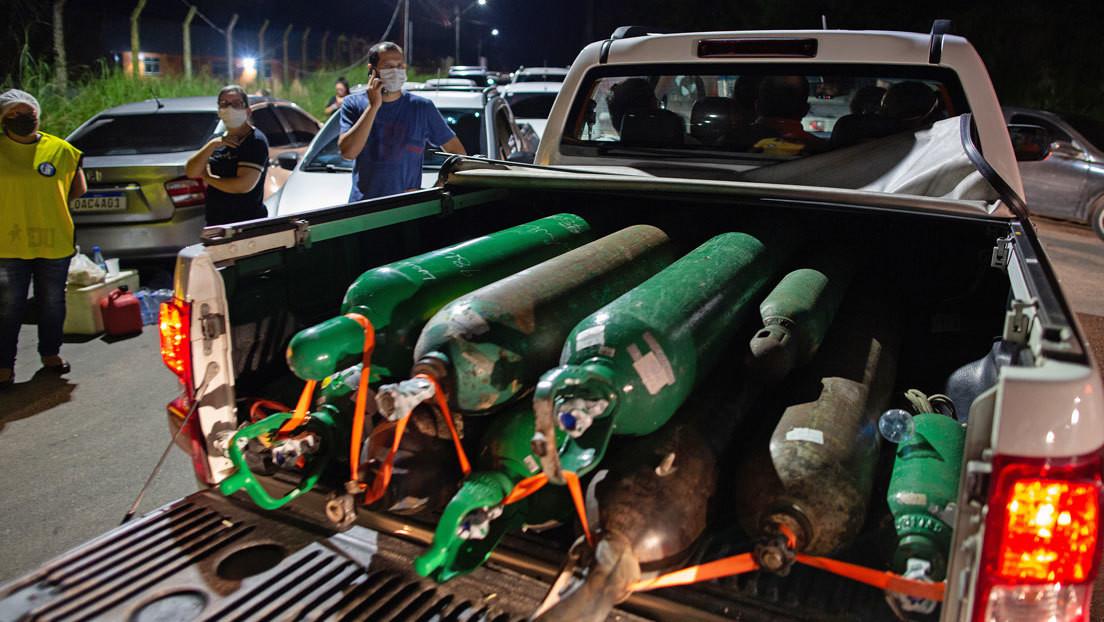 Llega a Brasil el cargamento de oxígeno proveniente de Venezuela que será destinado a atender la crisis por covid-19 en Manaos
