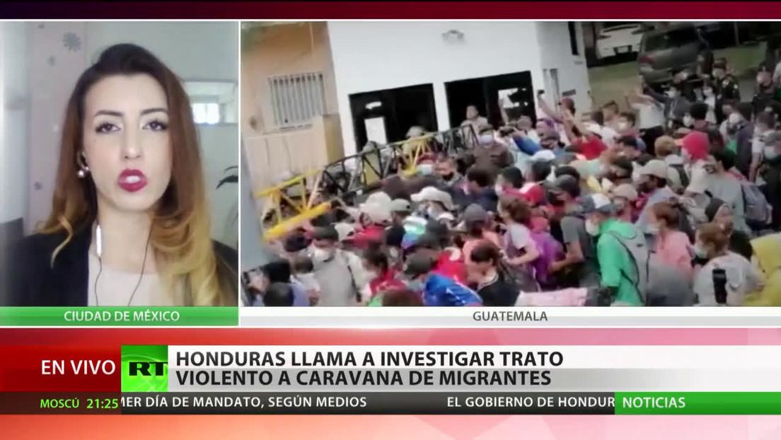 Honduras llama a investigar el trato violento a caravana de migrantes