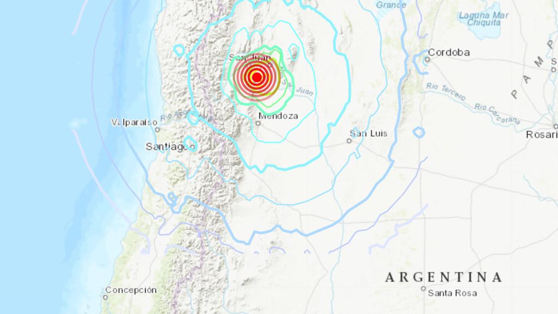 Primeras imágenes del sismo de magnitud 6,4 que ha sacudido la frontera entre Argentina y Chile (VIDEOS)