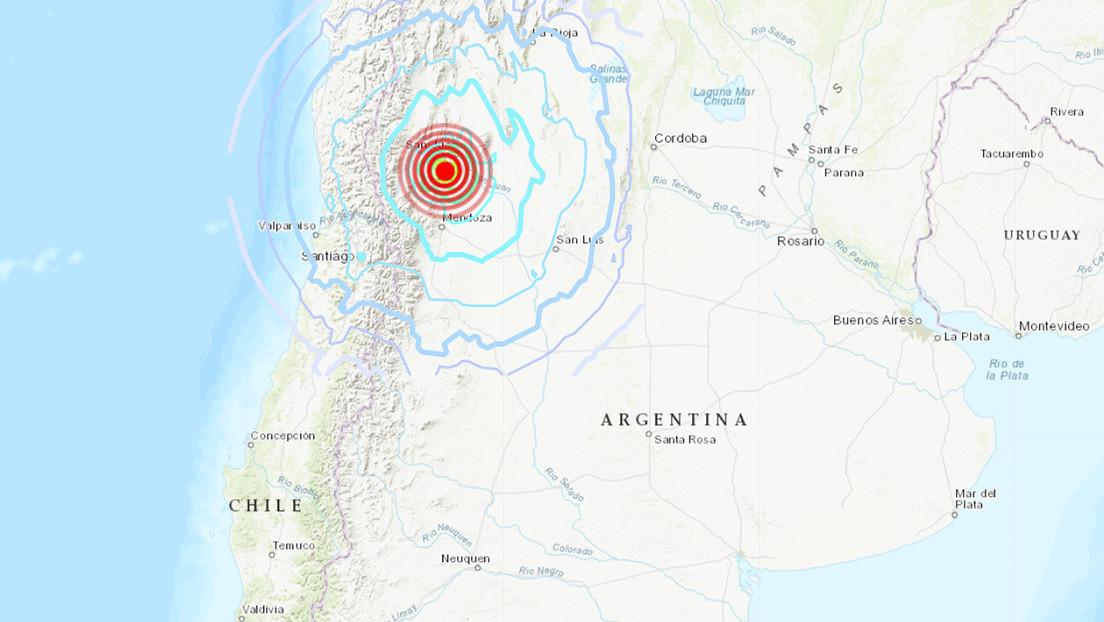 Un sismo de magnitud 6,4 sacude la frontera entre Argentina y Chile