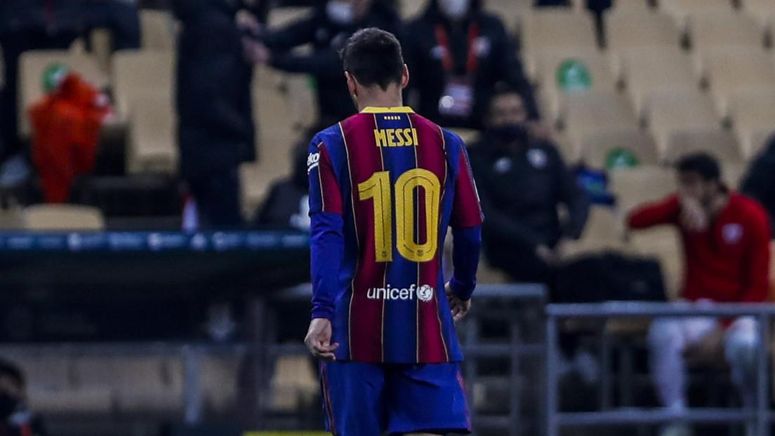 Suspenden a Messi con dos partidos por su agresión a un rival en la final de la Supercopa de España