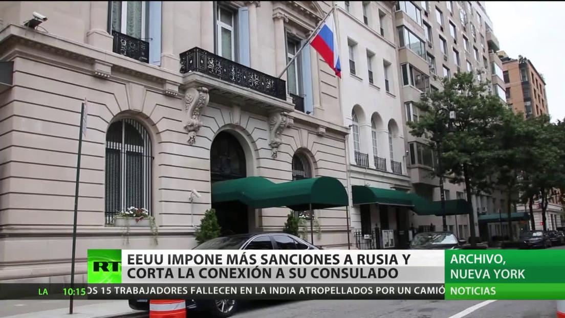EE.UU. impone más sanciones a Rusia y corta las comunicaciones a su Consulado en Nueva York