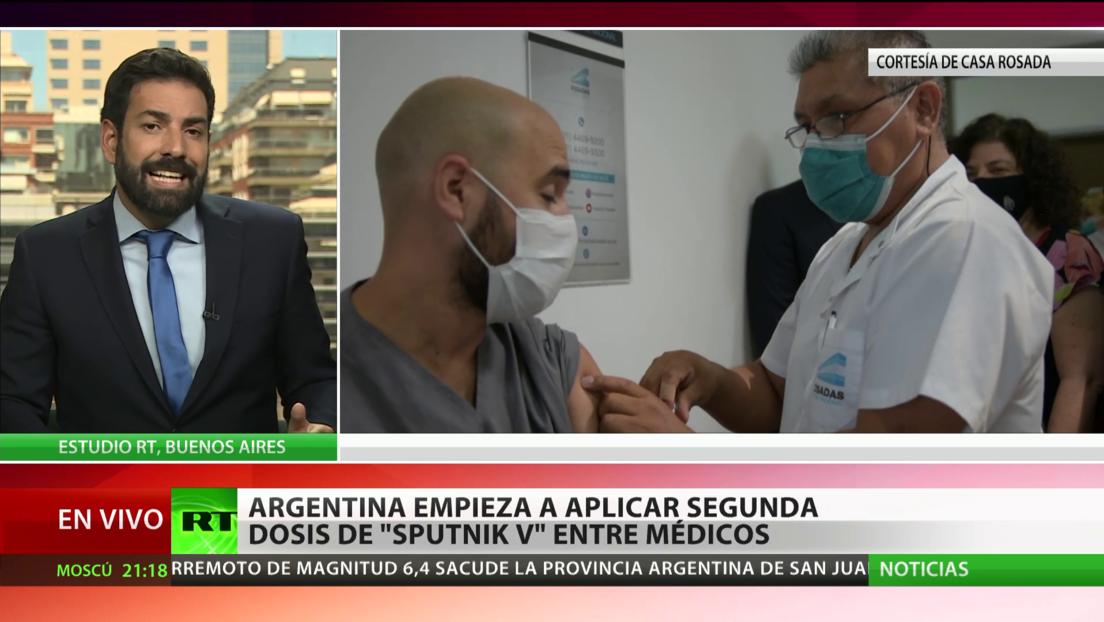 Argentina empieza a aplicar la segunda dosis de la vacuna Sputnik V