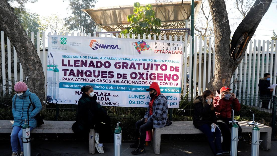 México lanza una campaña para exhortar a la población a reutilizar los tanques de oxígeno para pacientes con covid-19