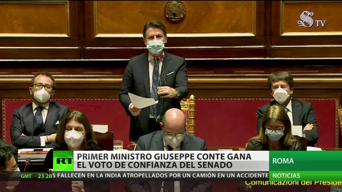 Italia: el primer ministro Giuseppe Conte gana el voto de confianza del Senado y evita la renuncia