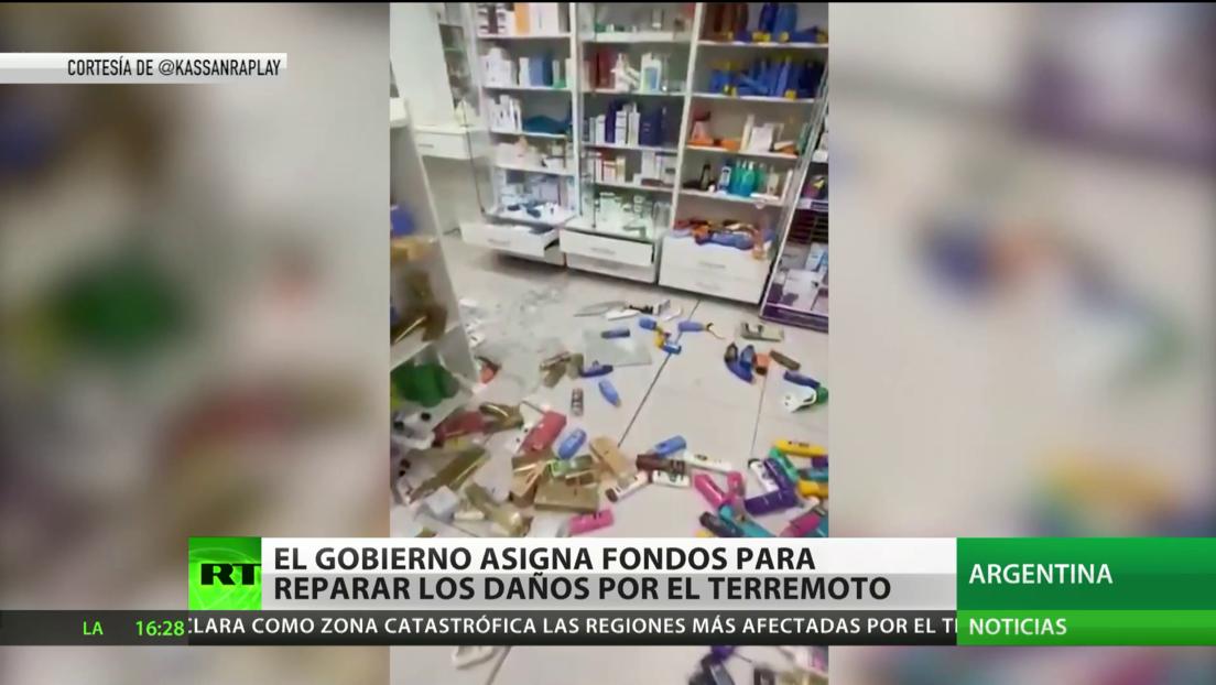El Gobierno argentino asigna fondos para reparar los daños del terremoto