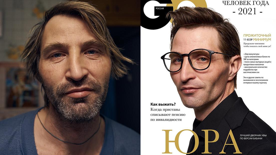 Un barrendero fotografiado al estilo de las revistas masculinas de moda se convierte en estrella en redes y consigue unos 10.000 dólares