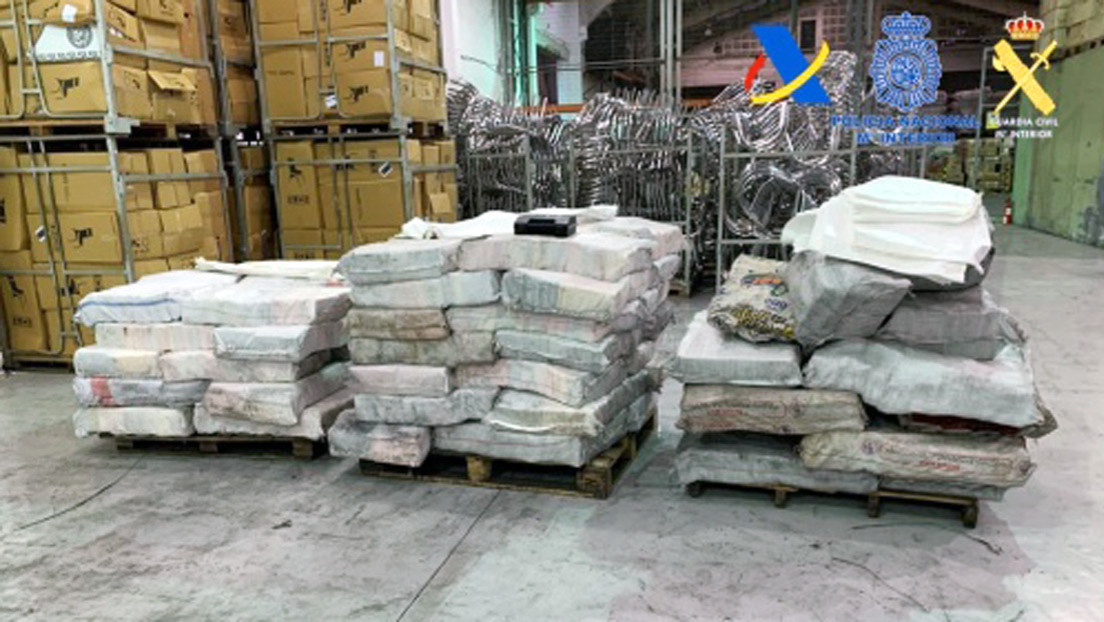 Desarticulan en España una banda narco e incautan más de 2 toneladas de cocaína enviadas de Sudamérica