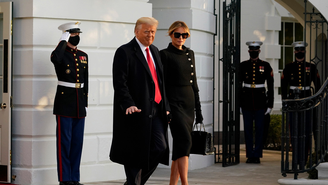 """""""Nos volveremos a ver"""": Donald Trump deja la Casa Blanca horas antes de terminar su mandato (VIDEO)"""