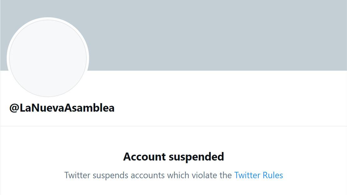 Twitter suspende la cuenta del nuevo Parlamento de Venezuela