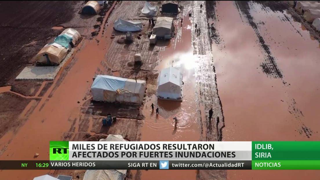 Siria: más de 41.000 afectados por las fuertes inundaciones en un campo de refugiados