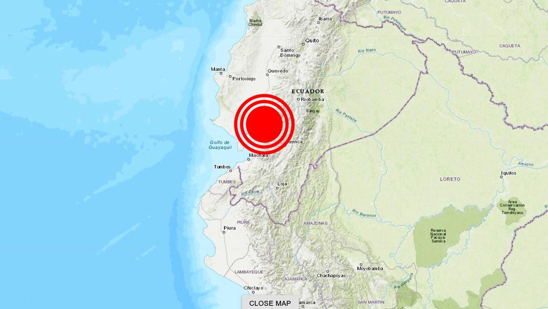 Un sismo de magnitud 5,15 sacude las provincias ecuatorianas de Los Ríos y Guayas