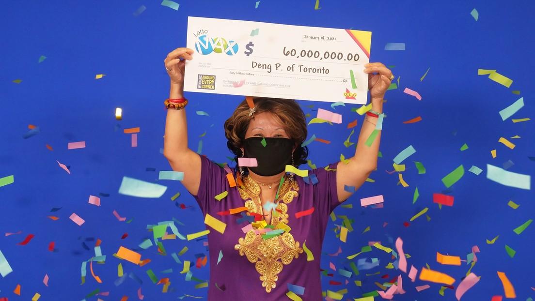 Una mujer gana 48 millones de dólares en la lotería tras apostar los números con los que soñó su marido hace 20 años