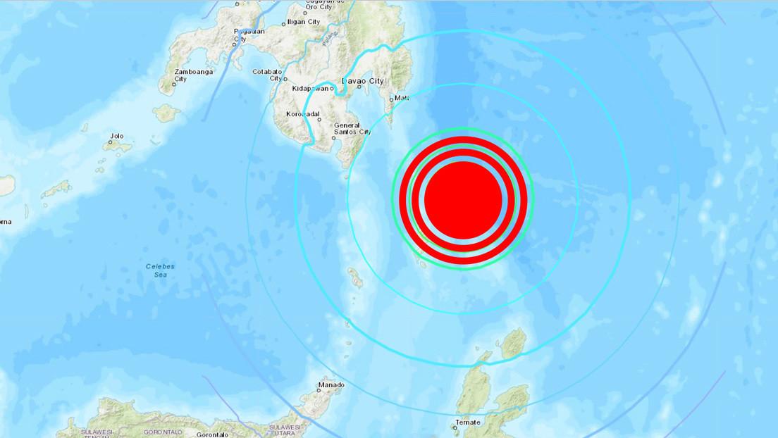 Un sismo de magnitud 7,0 sacude las costas de Filipinas