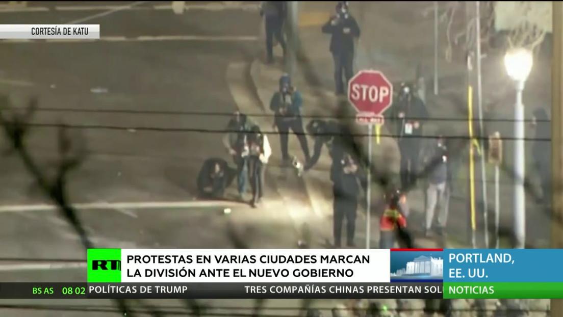 EE.UU.: Protestas en varias ciudades marcan la división ante el nuevo Gobierno