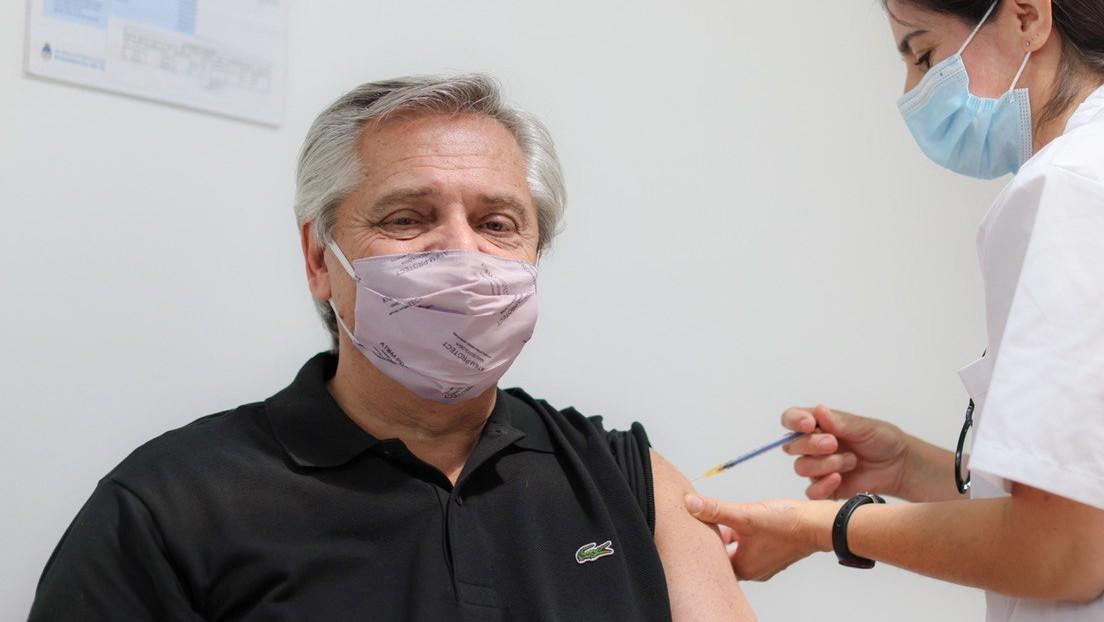 Alberto Fernández recibe la vacuna rusa Sputnik V contra el coronavirus