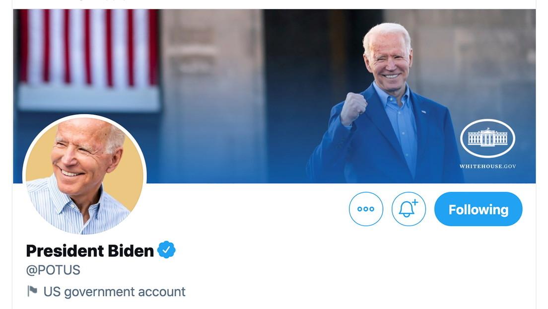 ¿Cuál es la única cuenta de Twitter no afiliada a la Casa Blanca que sigue  Joe Biden?