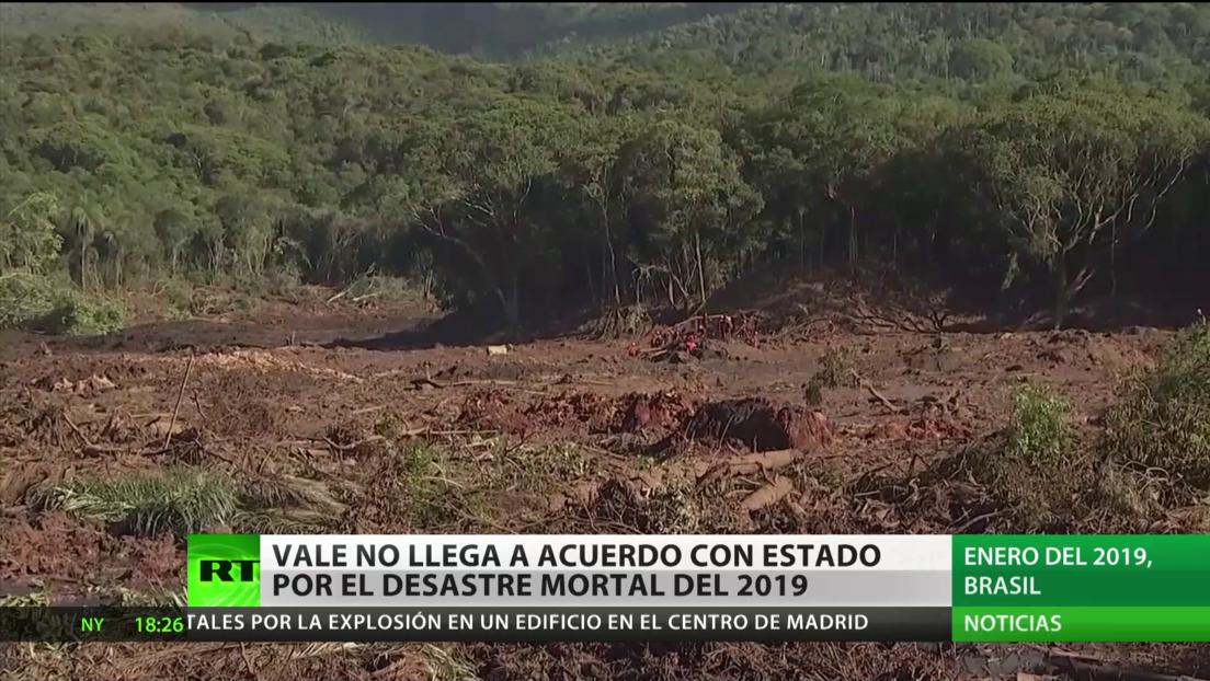 La minera brasileña Vale no llega a un acuerdo con el estado de Minas Gerais sobre el desastre mortal de 2019