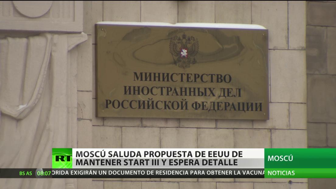 Moscú saluda la intención de EE.UU. de mantener el tratado START III y espera detalles de la propuesta