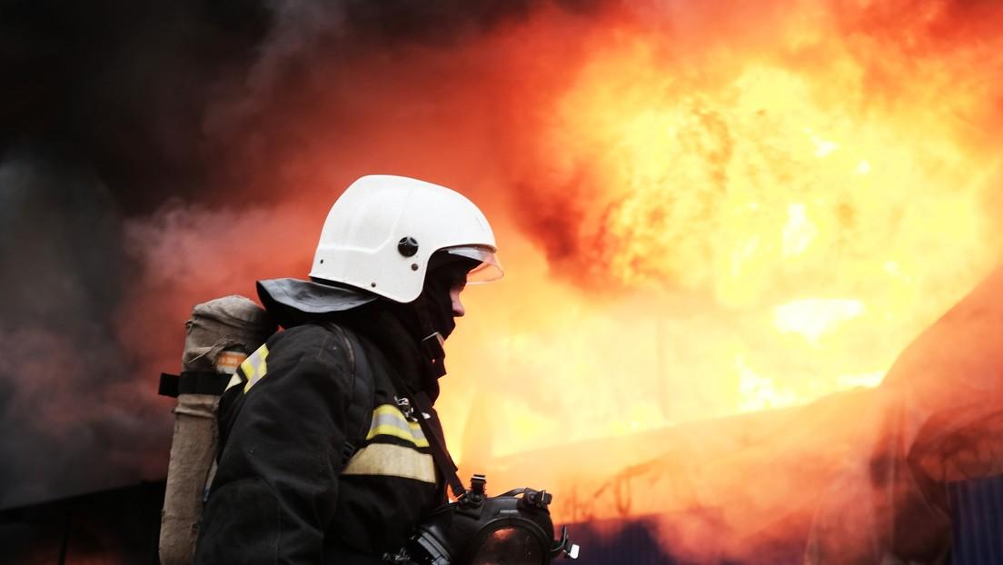 VIDEO: Explosión de un cilindro de gas deja al menos un muerto y heridos en un mercado de la ciudad rusa de Krasnodar