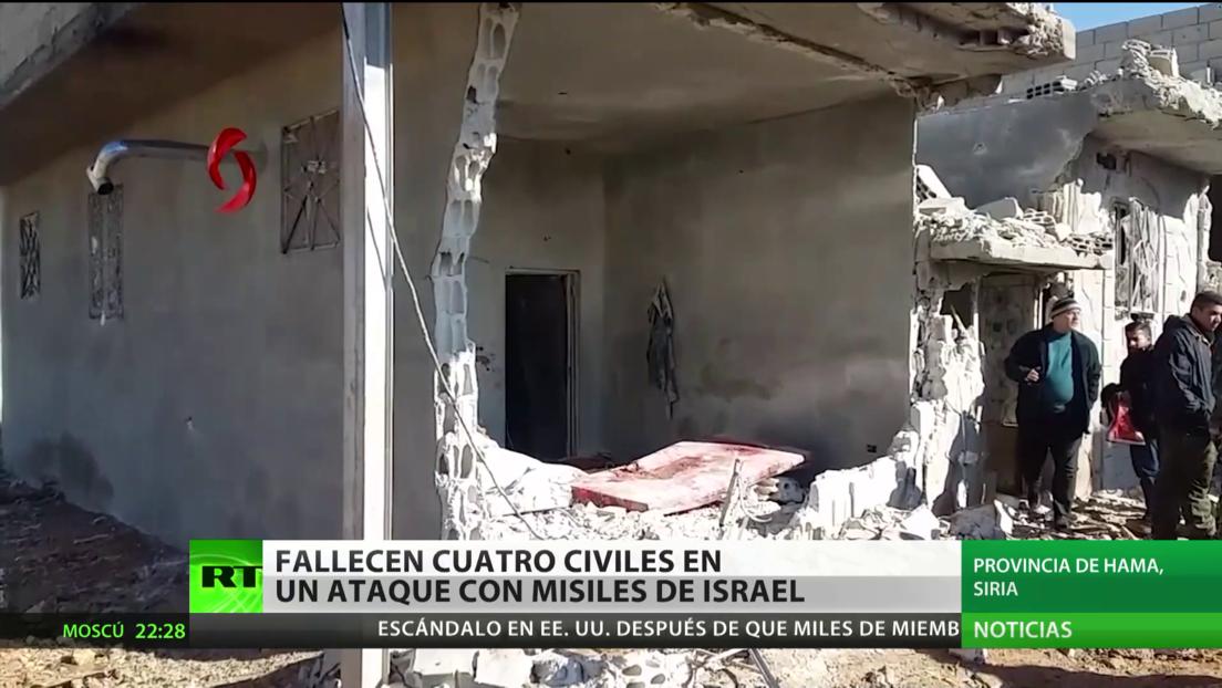 Un ataque de misiles israelíes en Siria deja cuatro civiles muertos y varios heridos