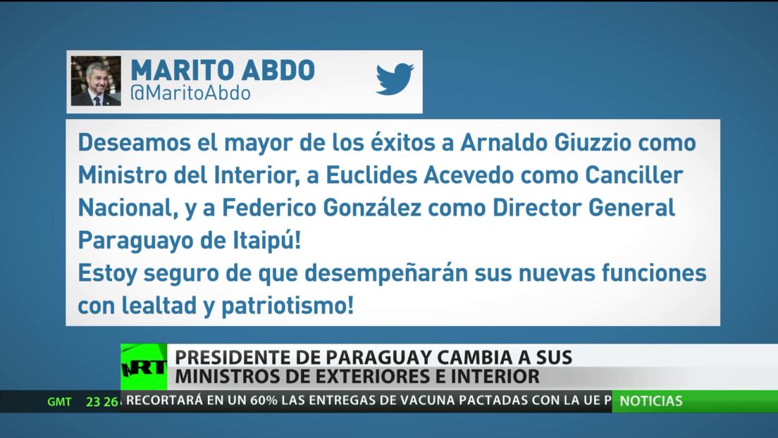 El presidente de Paraguay cambia a sus ministros de Interior y Exteriores