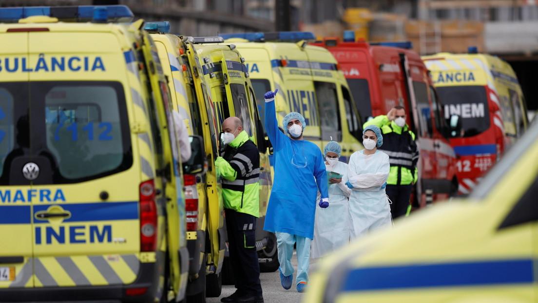"""Portugal: Los hospitales se enfrentan a una """"situación de guerra"""" debido al aumento de casos de covid-19"""