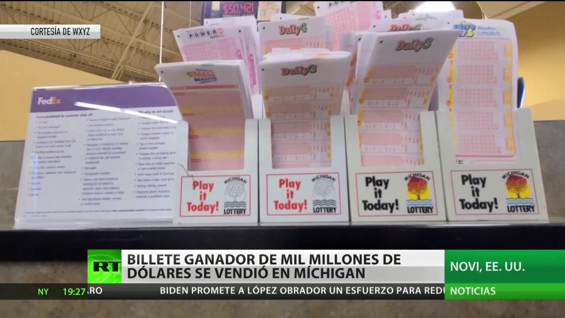 EE.UU.: Un billete de lotería premiado con 1.000 millones de dólares se vendió en un supermercado de Míchigan