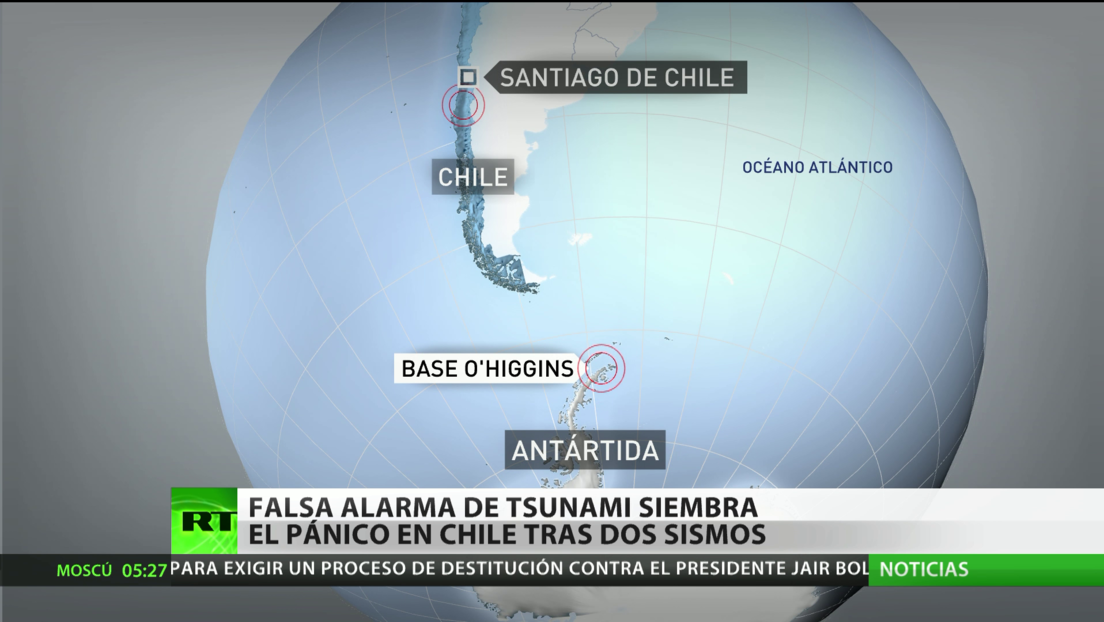 Falsa alarma de tsunami siembra el pánico en Chile tras dos sismos