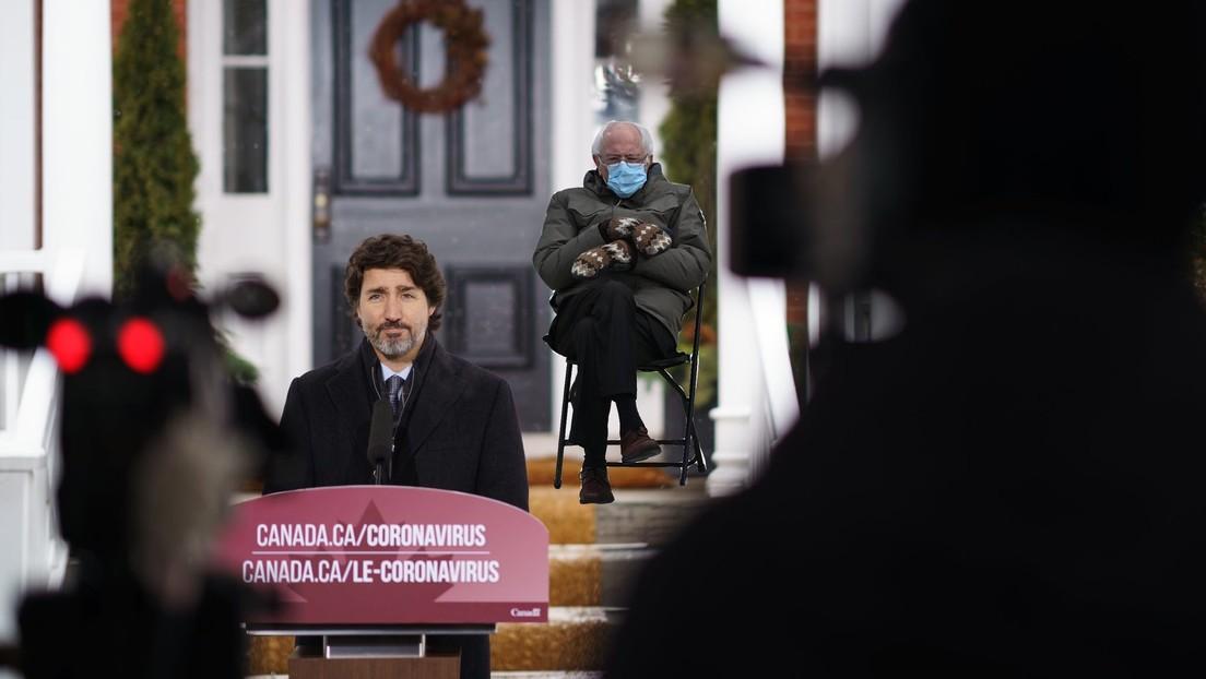 Trudeau saca provecho de los memes de Bernie Sanders e insta a la gente a quedarse en casa en medio de la pandemia
