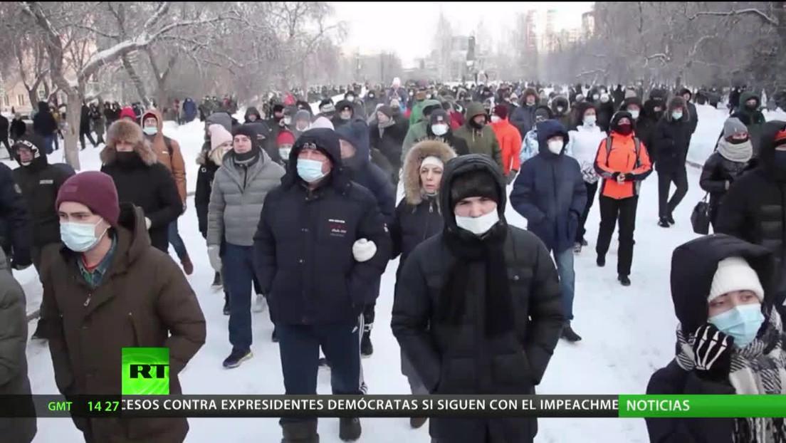 Peskov asegura que las recientes marchas en Rusia benefician a los que buscan desestabilizar el país