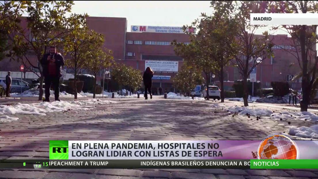España: Hospitales no logran lidiar con las listas de espera ante el aumento de infectados con covid-19
