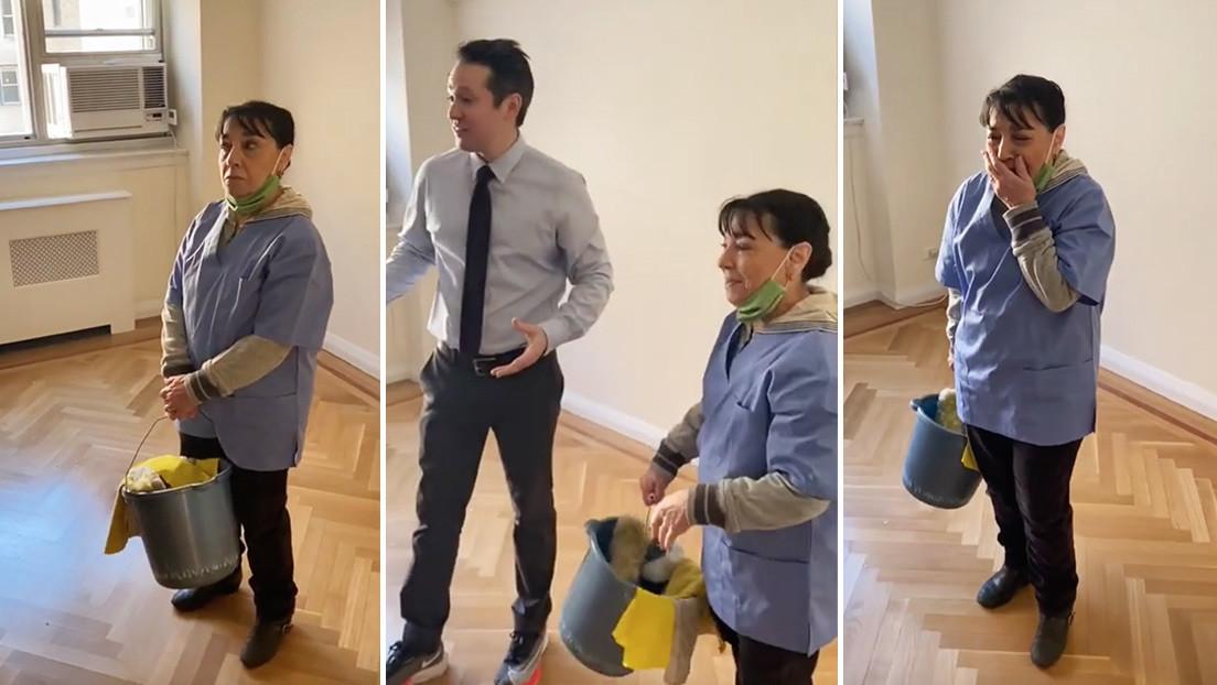 VIDEO: Vecinos llaman a una limpiadora desempleada para asear un apartamento (pero la visita acaba inesperadamente)