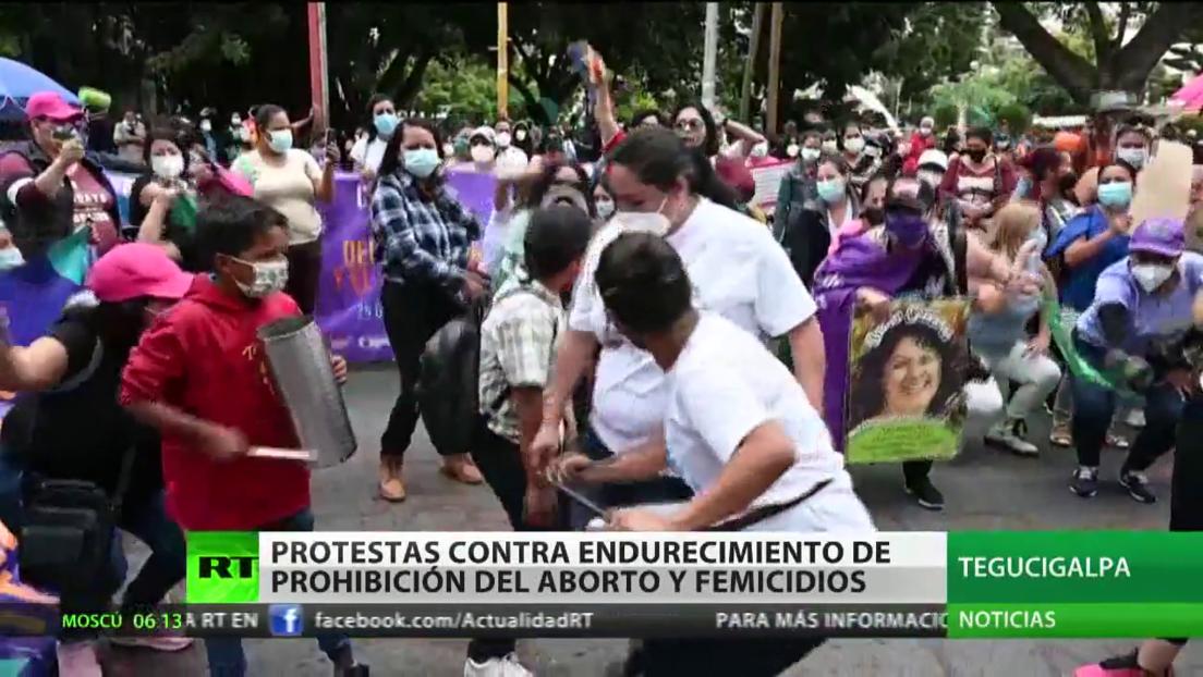 Protestas en Honduras contra el endurecimiento de la prohibición del aborto y contra femicidios