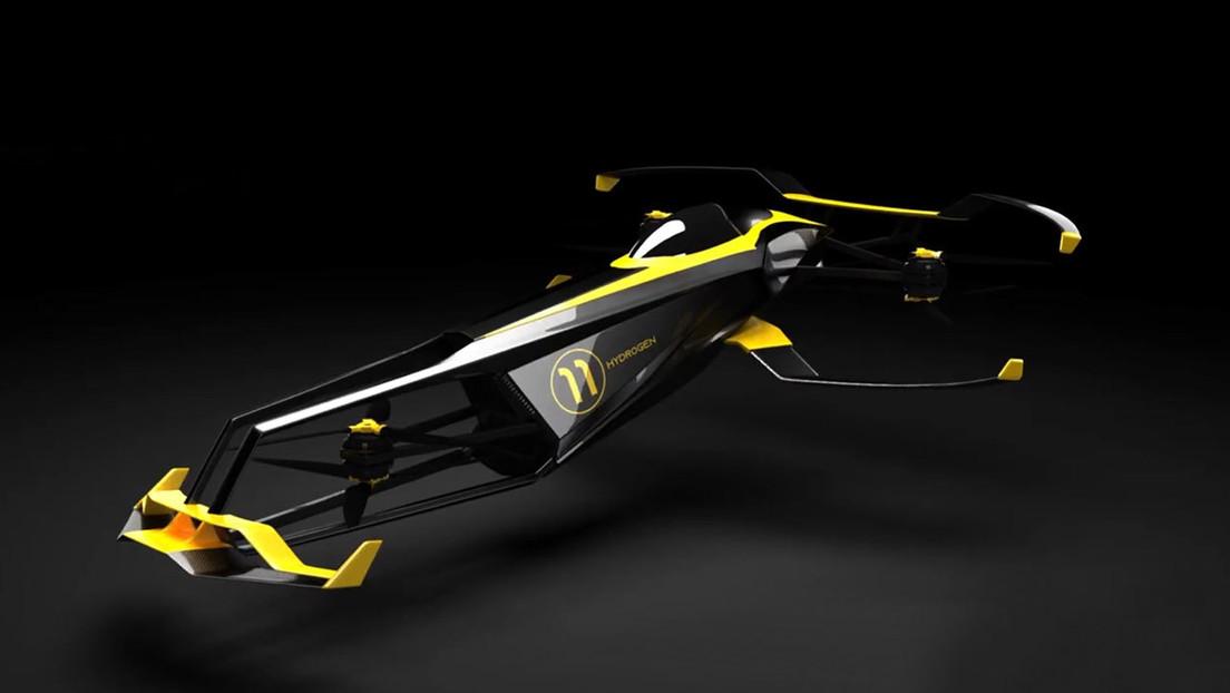 Desarrollan un bólido volador propulsado a hidrógeno para competir en carreras de F1 en el aire