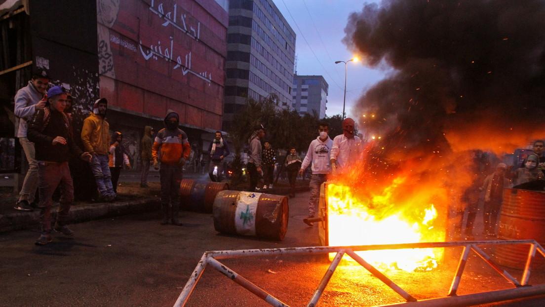 VIDEOS: Enfrentamientos entre el Ejército del Líbano y manifestantes contra las restricciones por el covid-19