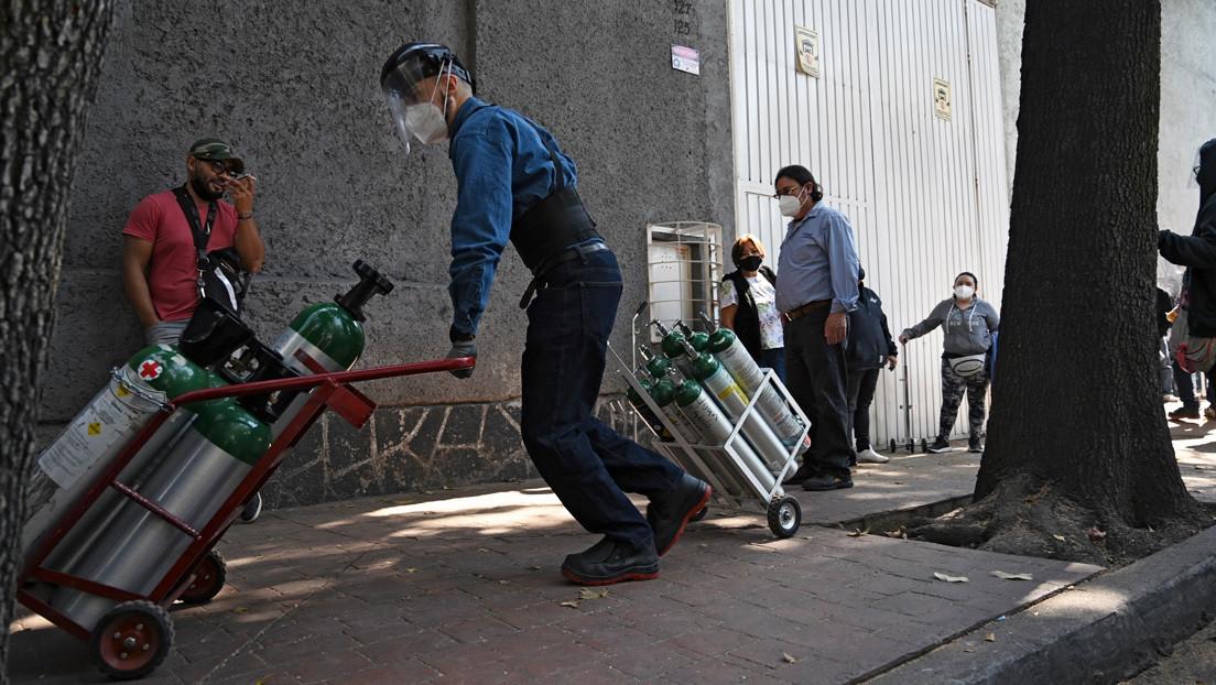 El crimen organizado trafica con tanques de oxígeno en México en pleno repunte de los casos de covid-19