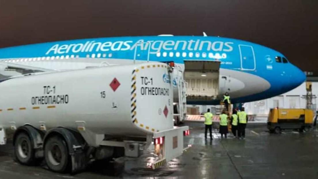 Despega de Moscú el avión que transportará a Argentina un nuevo cargamento de la vacuna rusa Sputnik V
