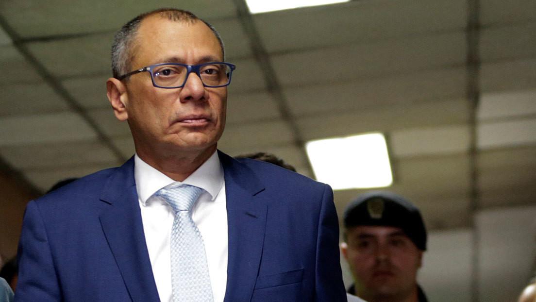 Exvicepresidente de Ecuador Jorge Glas da positivo por coronavirus
