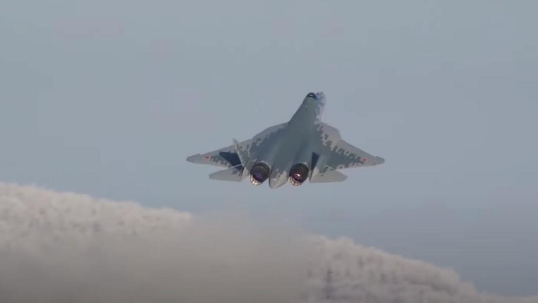 VIDEO: Muestran el proceso de fabricación y el vuelo de un Su-57, el primer caza ruso de producción en serie