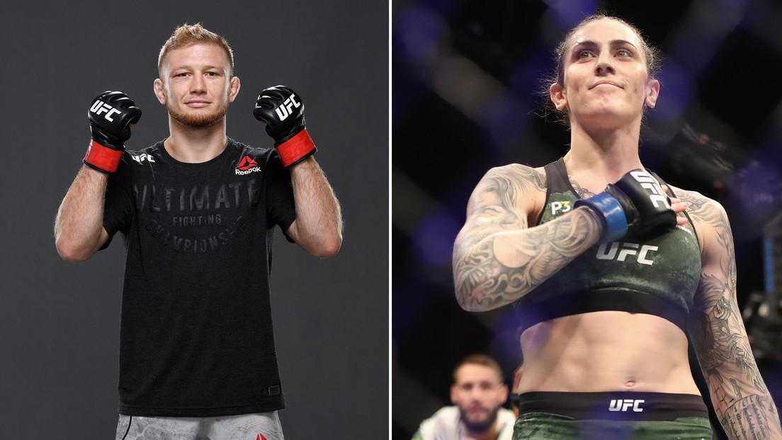"""Un luchador de la UFC hace comentarios sexuales sobre una peleadora, ella los califica de """"un comportamiento asqueroso"""" y recibe apoyo de sus colegas"""