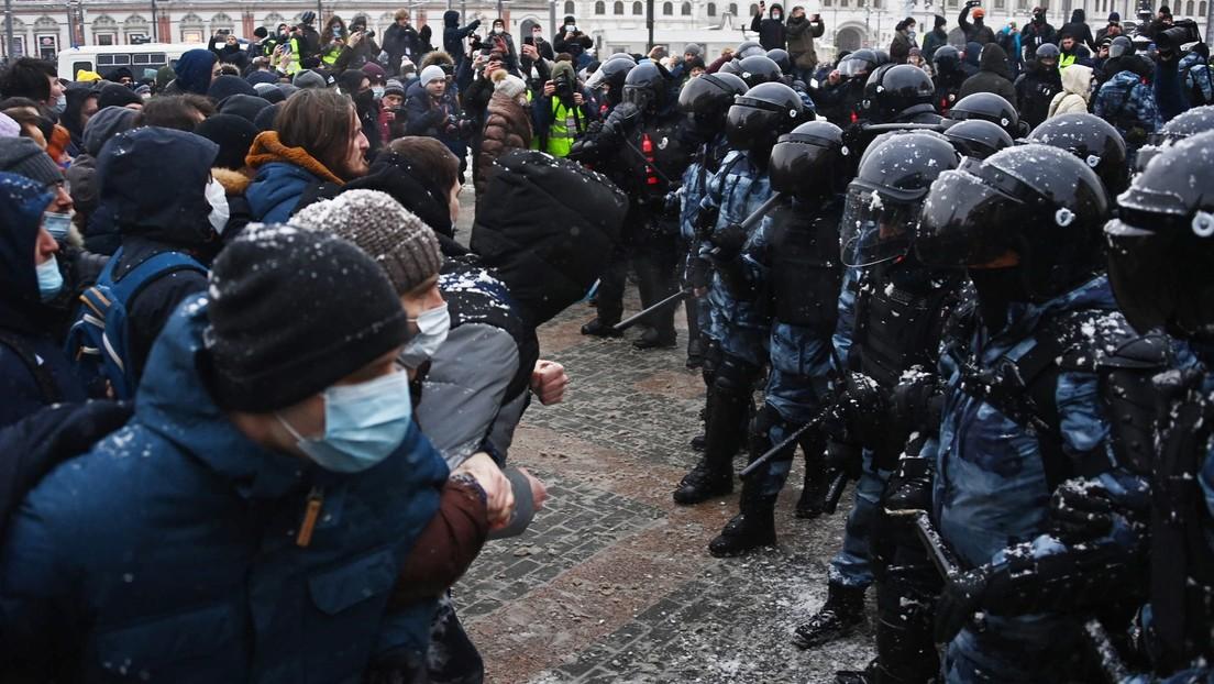VIDEO: Protestas en apoyo al opositor Navalny se realizan en Moscú y otras  ciudades de Rusia
