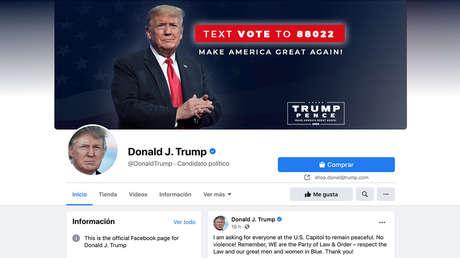 Facebook e Instagram bloquean a Donald Trump de forma indefinida