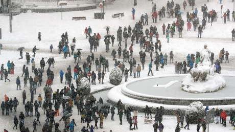 La histórica nevada en España, la más intensa registrada desde 1971, en imágenes