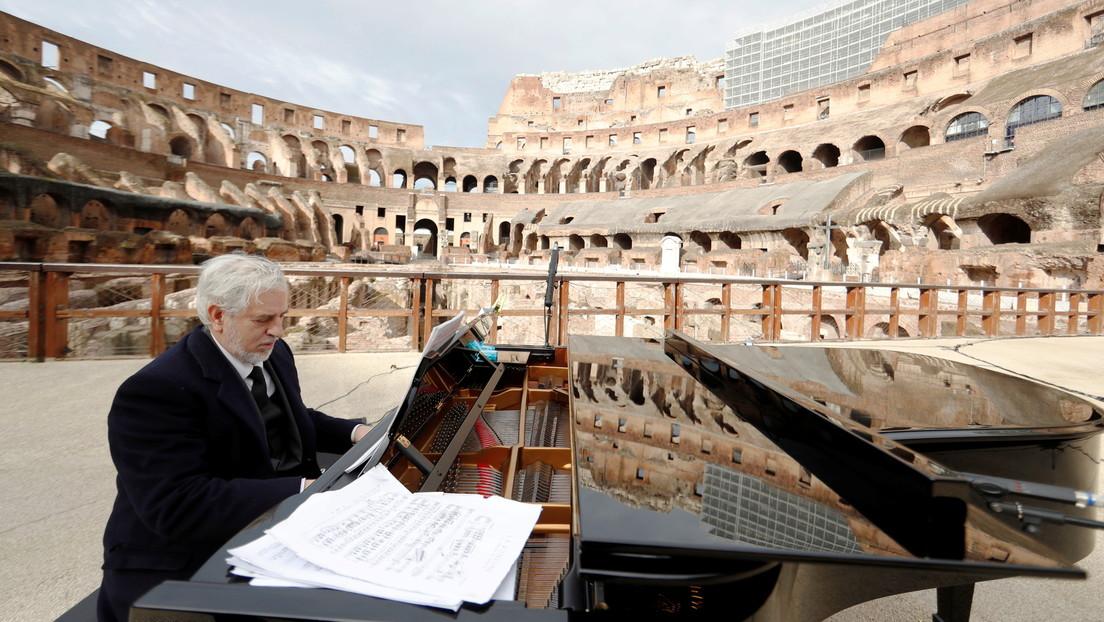 Reabren el Coliseo de Roma con un concierto de música clásica, mientras Italia alivia las restricciones contra el coronavirus