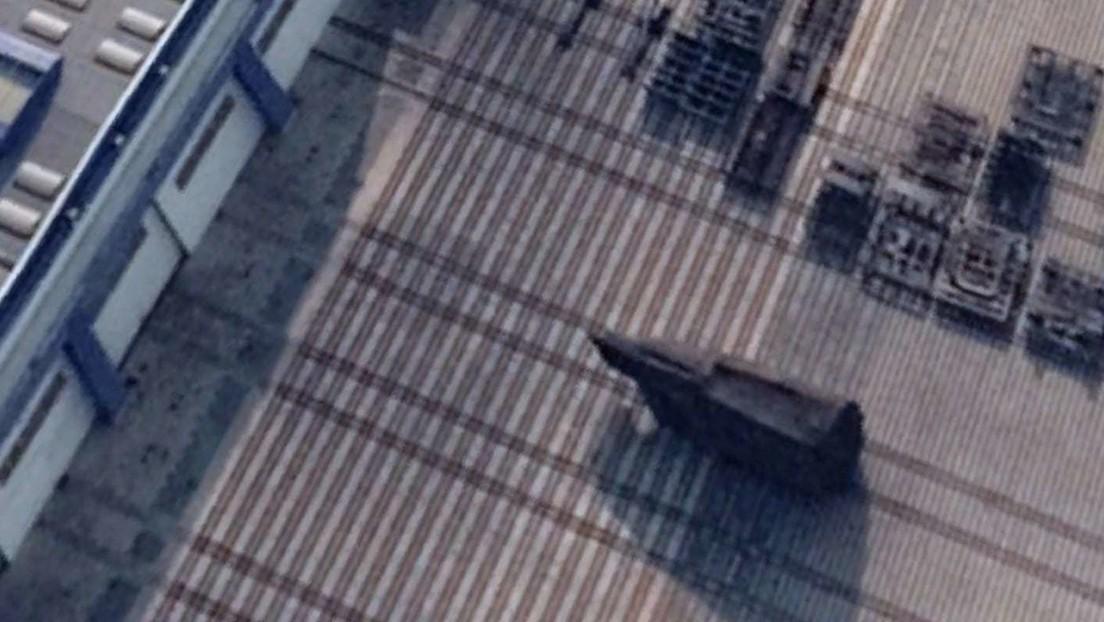 FOTO: Publican la primera imagen del nuevo submarino nuclear chino en construcción