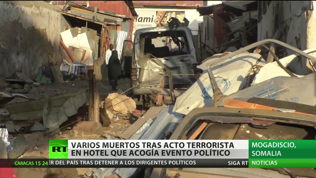 Varios muertos tras acto terrorista en un hotel en Somalia que acogía un evento político