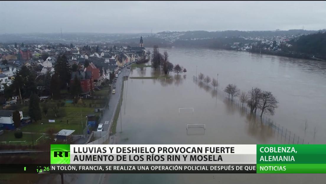 Alemania: Fuertes lluvias y deshielo provocan crecidas en los ríos Rin y Mosela