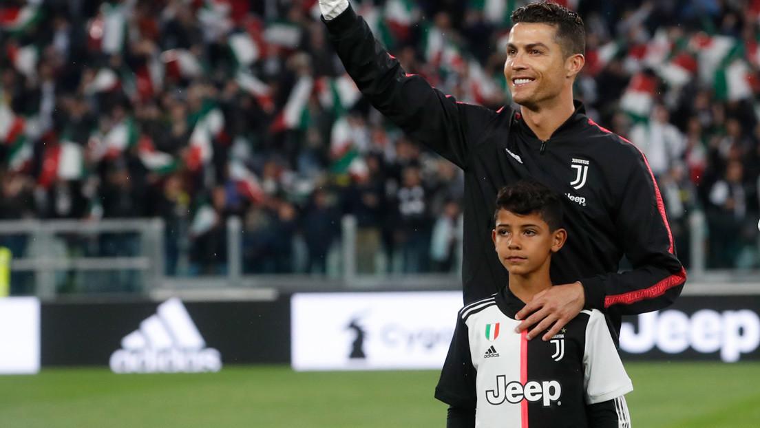 La emotiva celebración del hijo de Cristiano Ronaldo por un gol de su padre (VIDEO)